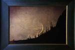 Cosmos Exhibition: Kate Breakey – Moon Setting over Saguaro, Arizona