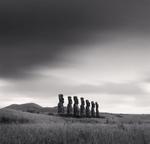 Michael Kenna: Moai, Study 49, Ahu Akivi, Easter Island, 2001