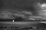 Mitch Dobrowner: Storm Approaching Silo, 2015