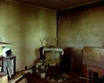 Steve Fitch: Living room in a house near Ludlow, eastern Colorado, July 6, 1999
